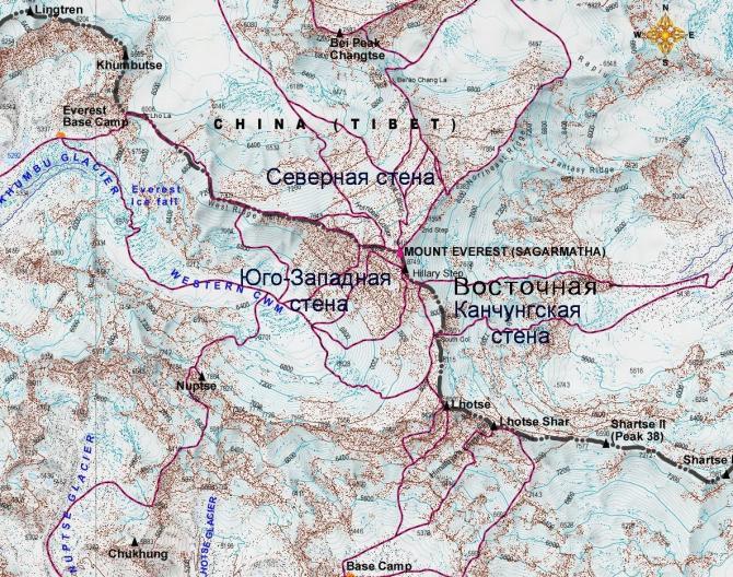 Где находиться эверест карта