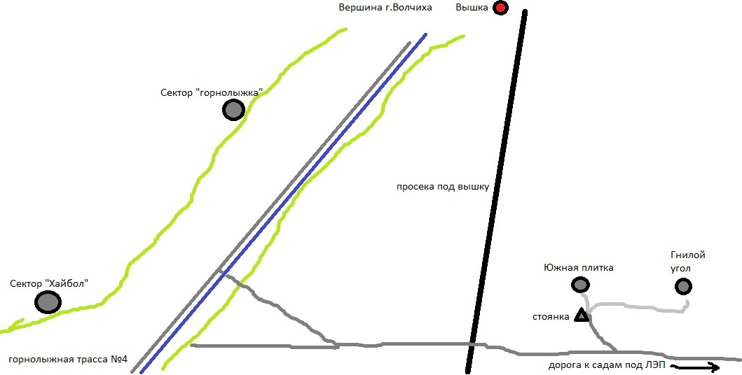 скалолазные маршруты на горе