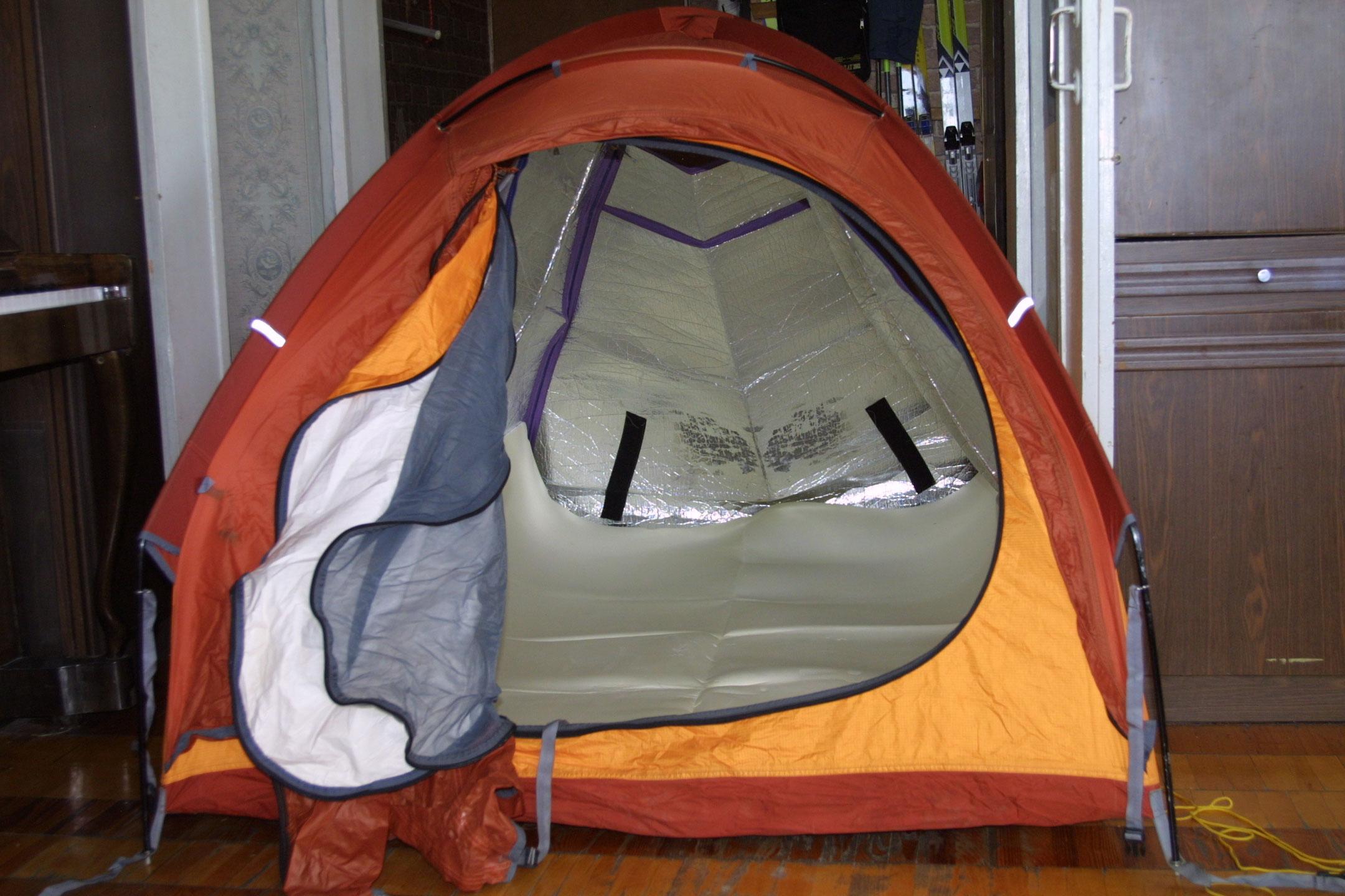 Утепленные зимние палатки своими руками