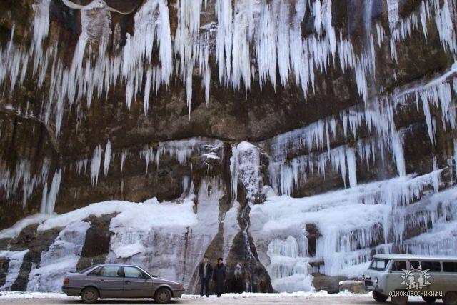 А это Чегемские водопады зимой