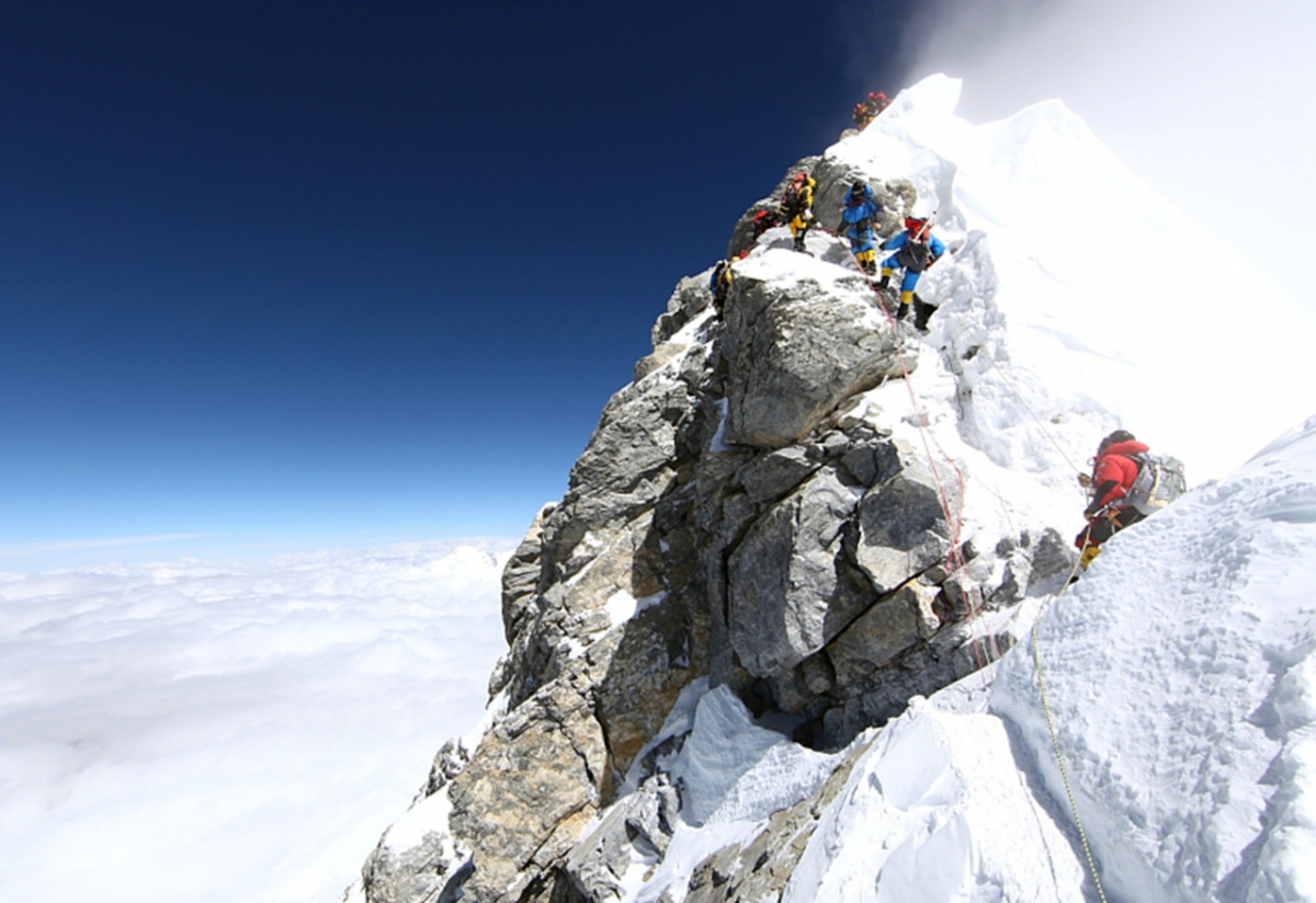 Где находится гора эверест а