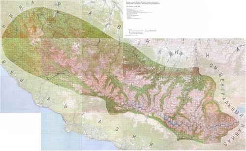 Карта-схема Западного Кавказа