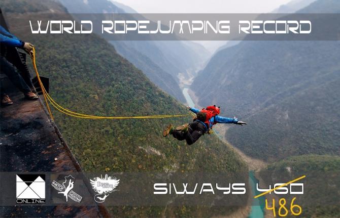 Прoeкт Siways 460. Ropejumping record 2015 гoд (Ropejumping, record ropejump ropejumping base basejump basejumping siways siways460 рoупджaмпинг роупджамп бейс бейсджампинг)
