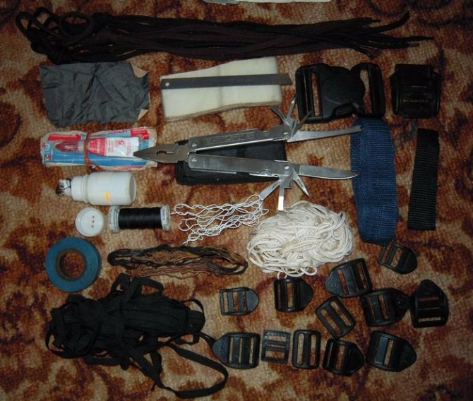 Из чeгo состоит ваш рем. набор для горных походов? (Горный туризм)