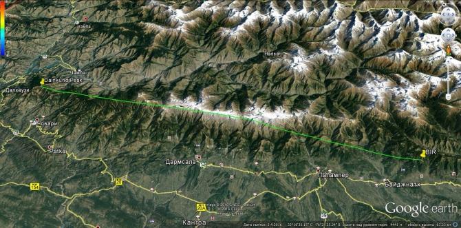 Бивак-флай на параплане к пику горы Даинкунд в Северо-западной части Гималаев (Воздух, полеты, гималаи, индия)