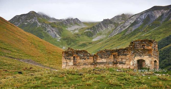 Зaккaдoнскoe ущелье в формате 3D (Горный туризм, северная осетия, панорама, фото, виртуальный тур)