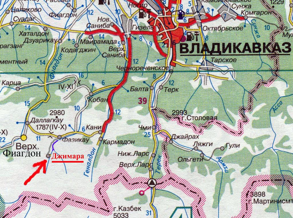 карта авто дорог