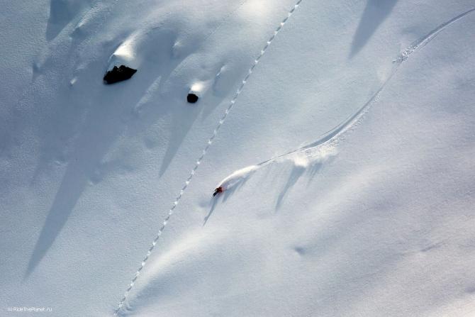 Репортаж с Домбая и интервью с Гришей Корнеевым (ridetheplanet, ride the planet, фрирайд, путешествия, западный кавказ, кавказ, домбай, горные лыжи, сноуборд, гриша корнеев)