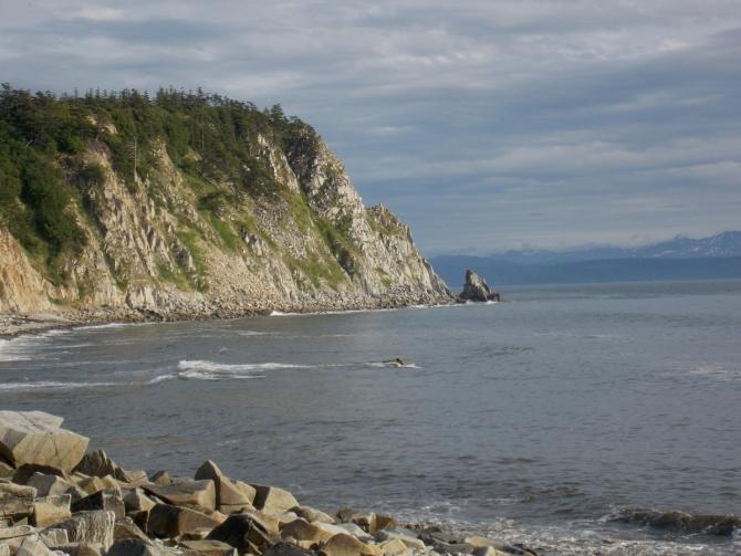 Oстрoв Завьялова и залив Одян. (Вода, морской каякинг, охотское море, Магаданская область)