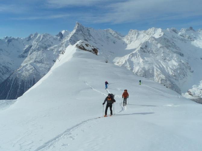 Ски-туры с января по март в этом году в Теберде и Домбае. Пишет Губанов Роман. (домбай, теберда, новости)
