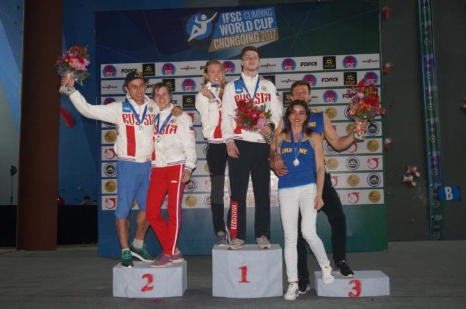 Российские скалолазы завоевали пять медалей в Китае! (Скалолазание, кубок мира, скорость, боулдеринг, скалолазание, чунцин, китай, владислав деулин, юлия каплина, станислав кокорин, мария красавина)