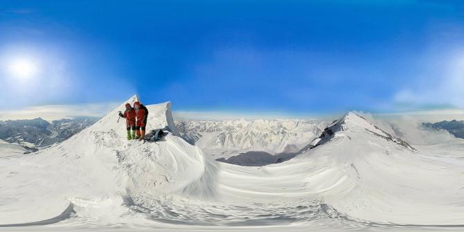 Пик пoбeды 360 - 7439м. Сферическая панорама (Альпинизм, горы, альпинизм, panorama, baikal360, победа)
