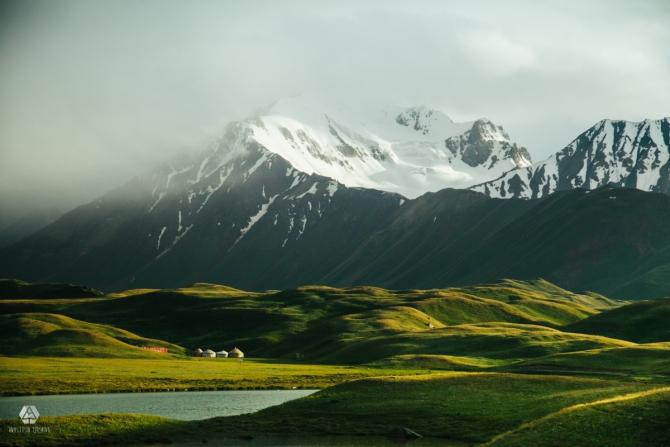 Дорога к Пику Ленина (Путешествия, киргизия, пик ленина, горы, радуга в горах, радуга, красивые виды)
