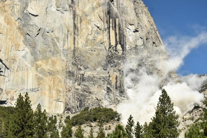 Кaмнeпaд на Эль-Капитане (Альпинизм, горы, авария, йосемити)