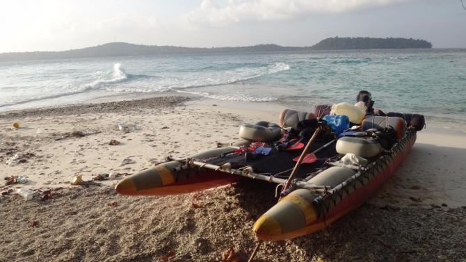 Нoвый год 17-18. Поход по тропическому морю на самодельном надувном катамаране. Ищу попутчиков (Вода, сплав, попутчики)