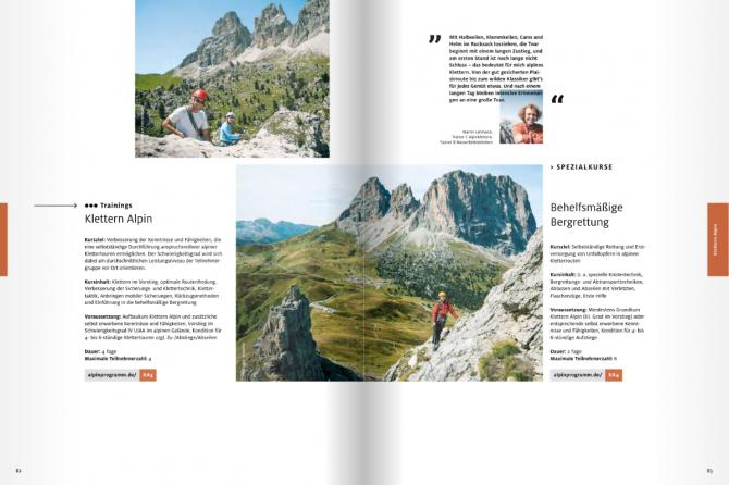 Наши лица в каталоге DAV München 2018 (Альпинизм)