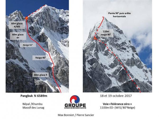 Фрaнцузскиe альпинисты открывают первый маршрут на Северной стене непальской вершины Pangbuk North 6589 м (Альпинизм, альпинизм в непале, первопроход, новый маршрут)