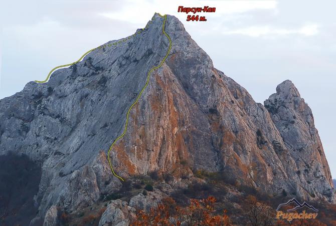 Подражая Тарантино. Новый видовой маршрут на вершину Парсук-Кая. (Альпинизм, крым, первопроход, Солнечная долина, пугачев)