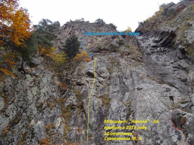 Пробитые скалолазные маршруты в Теберде (Скалолазание)