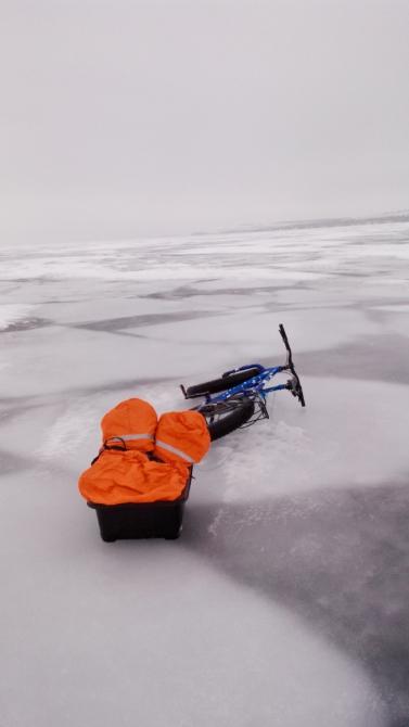 Велоэкспедиция «Волжский лёд». 16-27.02.2017 (по льду на велосипеде.)