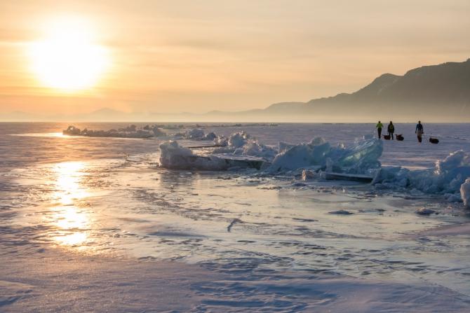 Зимний Байкал. Фотоотчет. (Туризм, ольхон, поход на коньках, лед, турклуб маи, торосы, наплески)