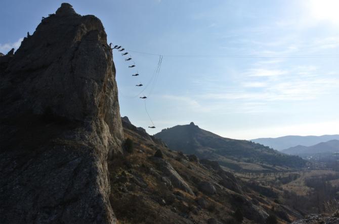 Первопрыг со скалы Сейран-кая. Крым, Солнечная долина (Ropejumping, школа роупджампинга, сумберг, нефедов, сергей, сейран кая, сейран-кая. солнечная долина, прыжки с веревкой)
