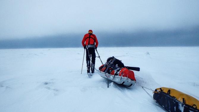 2015 среди льдов 500 км (Туризм, сахалин, амурскийлиман, шмидта, лыжныепоходы, соло)