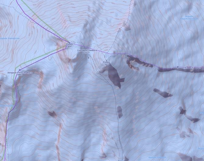 Garmin, карты, горизонтали (Альпинизм)