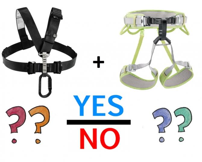 Верхняя обвязка для соревновательного альпинизма (система, страховка, снаряжение, Petzl Chest Air)