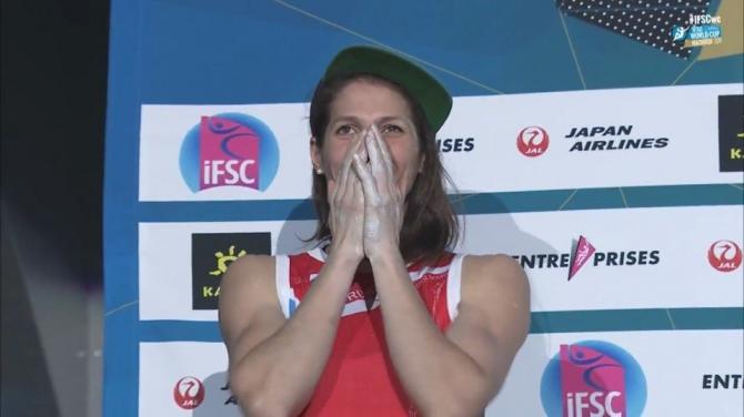 Екатерина Киприянова – бронзовый призер этапа Кубка мира в Японии! (Скалолазание, скалолазание, Хатиодзи, япония, кубок мира, боулдеринг, алексей рубцов)