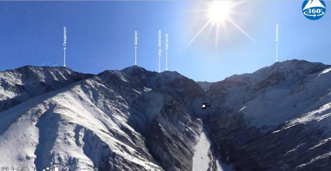 Интерактивные авиапанорамы гор Осетии (Горный туризм)