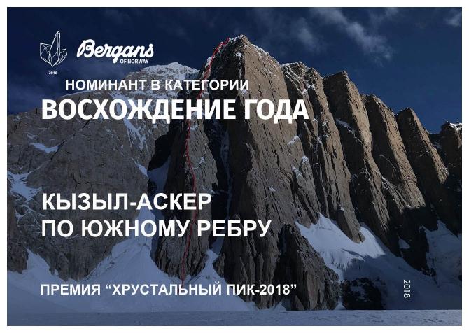 Xрустaльный пик-2018. «Восхождение года». Кызыл-Аскер (Альпинизм, премия, горы, номинация, мы в обществе)