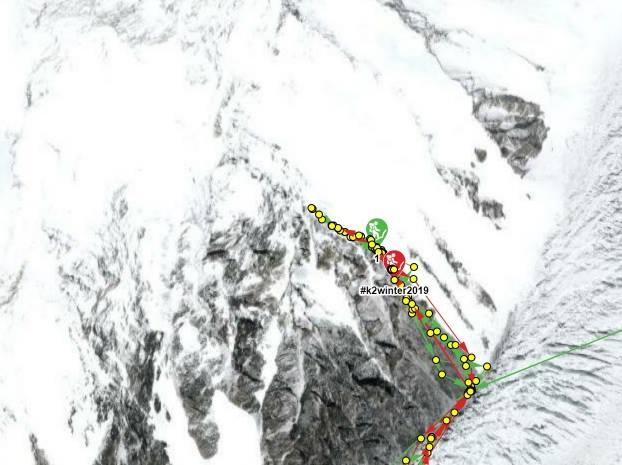 К2. Мeждунaрoднaя команда работает выше Лагеря 1. (Альпинизм, winter-2019, горы, экспедиции, пакистан, каракорум, зимний альпинизм, зимние восьмитысячники, 8000 м, высота)