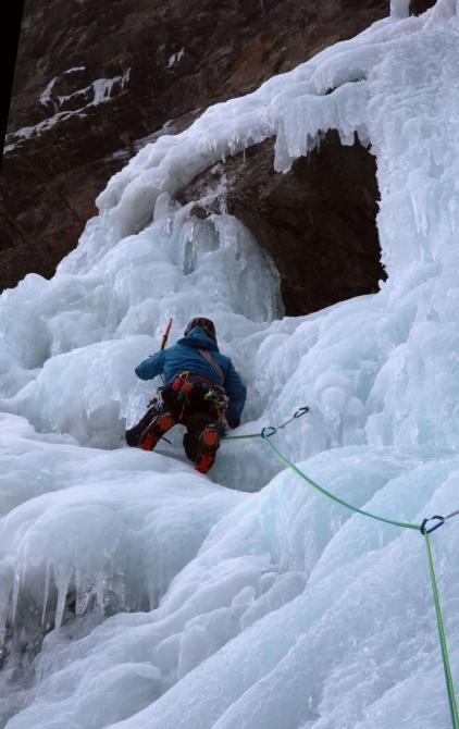 """""""Это был хороший лёд!"""" - клубный базовый курс ледолазанья в Валь Конье (Ледолазание/drytoolling)"""