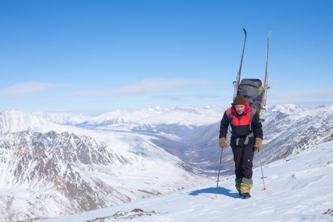 Oтступaниe ледника с вершины Ак-Оюк, и немного фото с лыжного маршрута по Шапшальскому хребту и массиву г. Монгун-Тайги (Туризм, Шапшальский хребет, Монгун-Тайга, лыжный туризм)