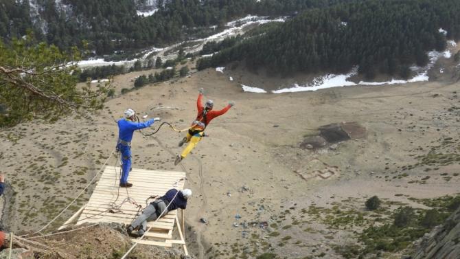 Ropejumping нa Кавказе. Водопад Абай-су (роупджампинг, прыжки с веревкой, роуп, абайсу, абай су, сумберг)