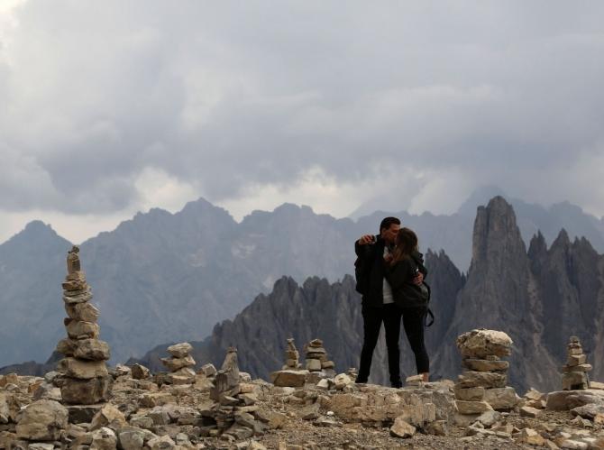 2019 август. Кортина д'Ампеццо с Андреем и Олей