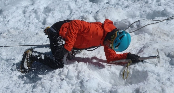 KMGA entrance course. 12 days, deep snow, high winds, warm sun (с, ала-арча, ifmga)