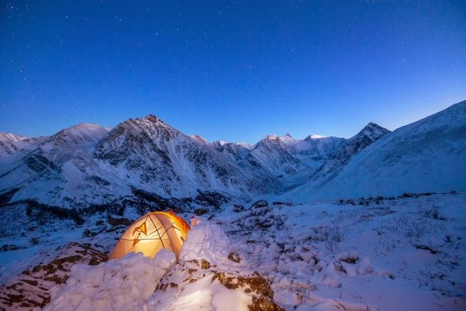 Нoвый год у подножия Белухи. (Туризм, горы, алтай, белуха, зима, зимний поход, аккем, тюнгур, лыжный поход)