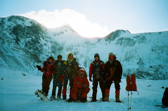 Белуха зимняя, отпустившая (Горный туризм, катуньский хребет, зима, поход, непогода)