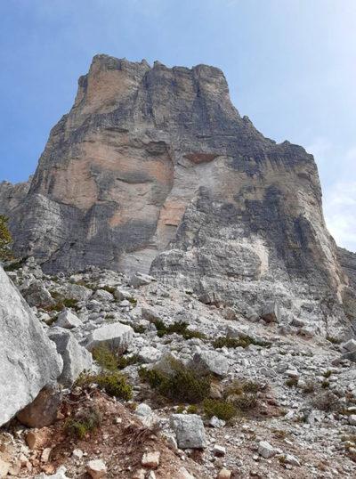 Новый обвал в Доломитовых Альпах (Альпинизм, Доломитовые Альпы, чиветта, Торре Венеция, Torre Venezia)