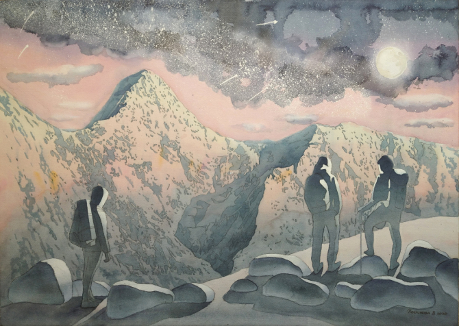 Картина с горами.