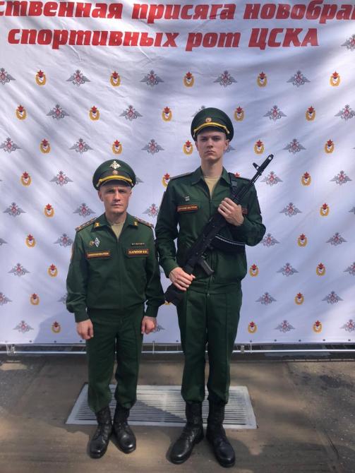 В спортроте ЦСКА два скалолаза-новобранца! (Скалолазание)