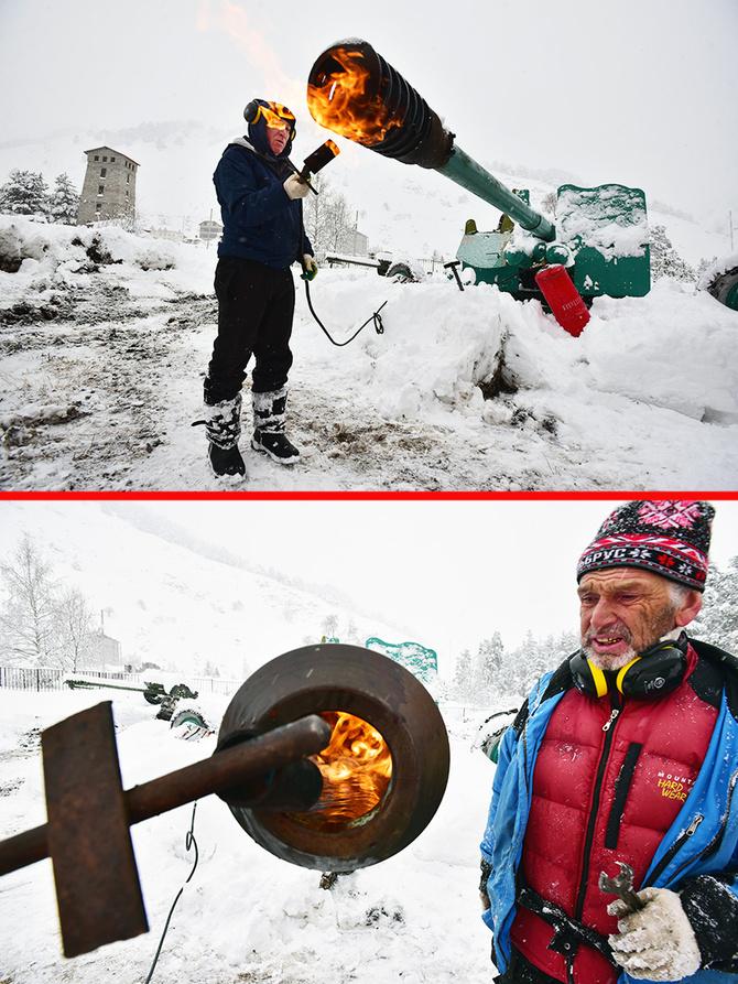 Рабочий день лавинщиков. (Горные лыжи/Сноуборд)