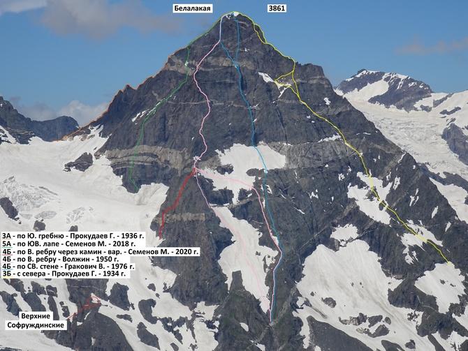 Новый вариант маршрута на Белалакаю - по ступеням через камин (Альпинизм)