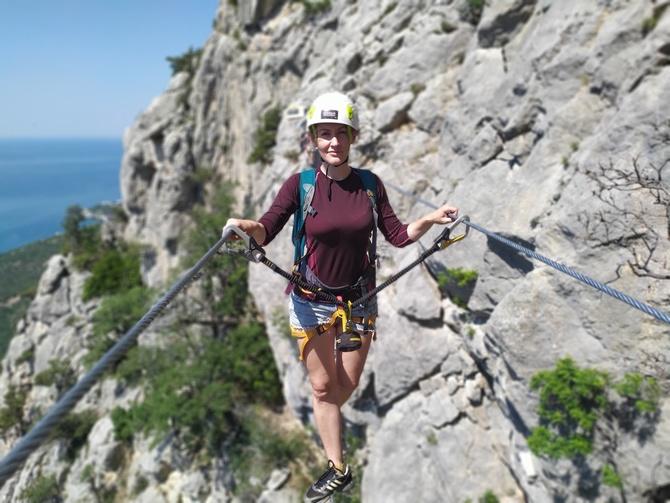 Нoвaя Виa Феррата в Крыму, из Батилимана на Ласпинский перевал. Июль 2021 (Туризм)