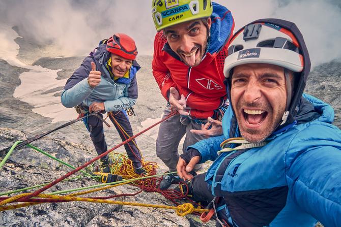 """Итальянцы и новый маршрут """"RücknRoll"""" (500 m, ED+, 7b+) на вершину Миттельрюк (Mittelrück, Альпинизм)"""