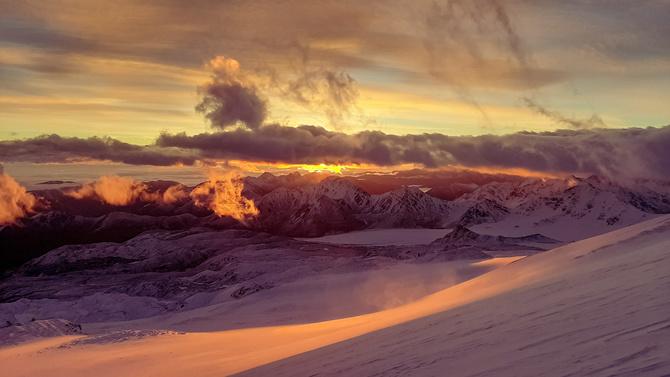 Скрины прогноза погоды на 23-е сентября по вершине Эльбруса. (Альпинизм)