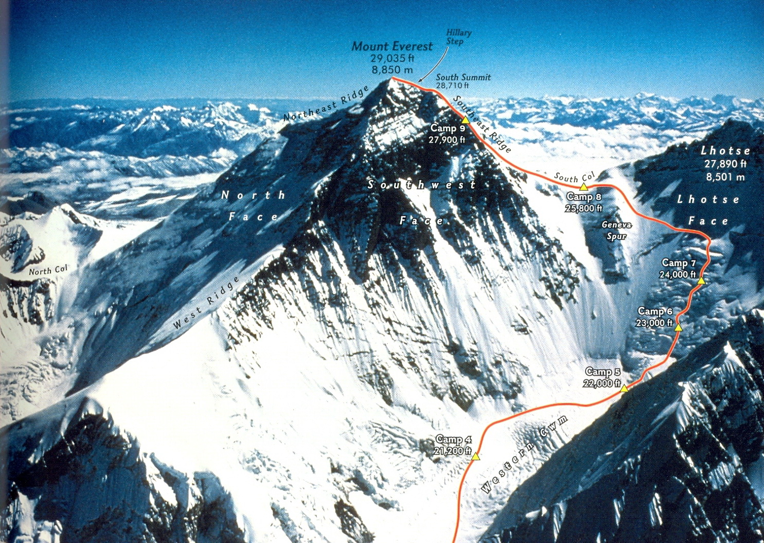 a recount about the storm on the south col of mount everest in 1996