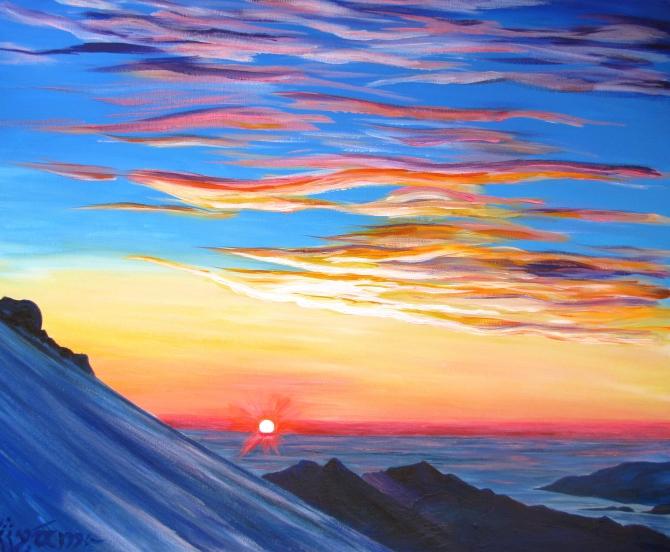 Восход солнца картинки нарисованные, самолете прикольные прикольные